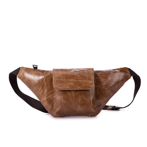 Genuine Leather Travel Fanny Waist Bag