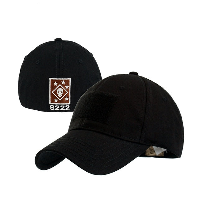 Back Skull Logo Embroidery Baseball Cap