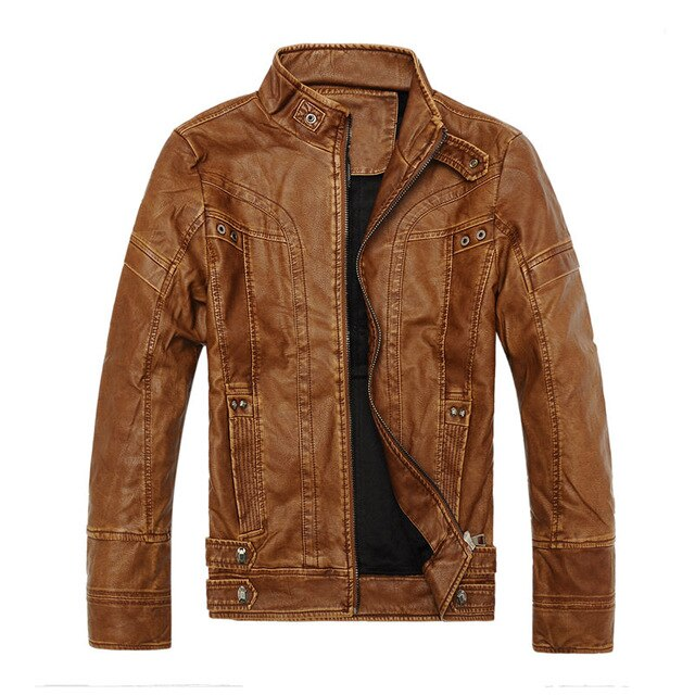 Windproof Warm Leather Jacket
