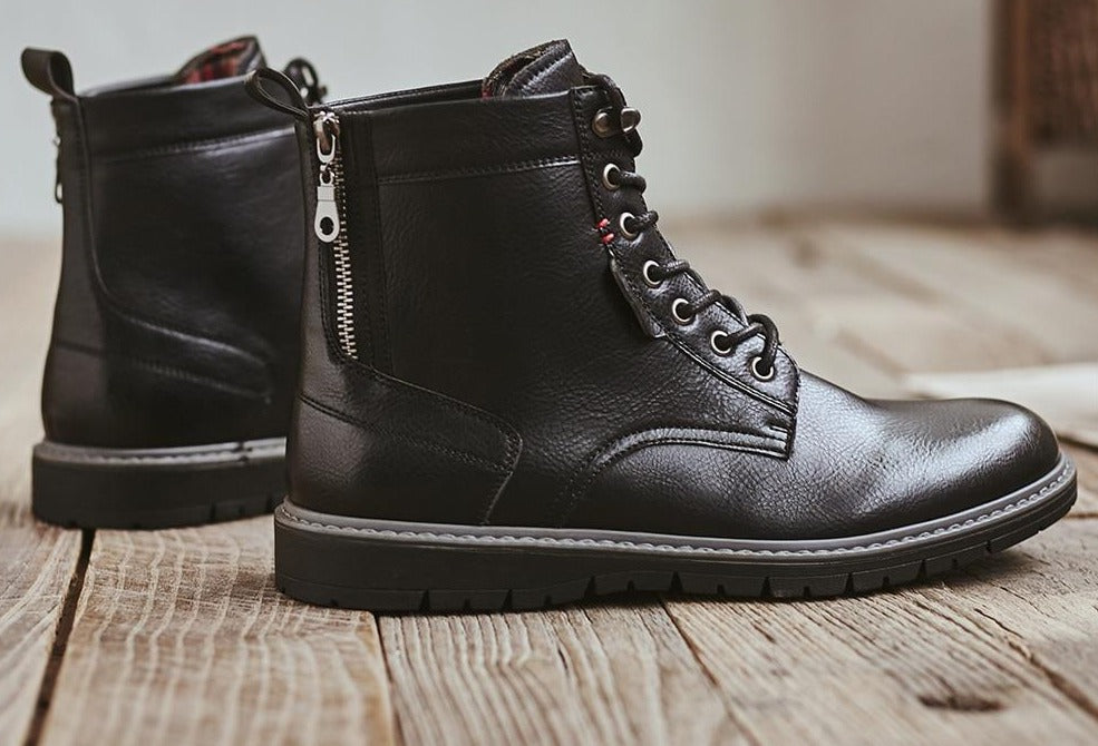 Comfy Leather Outdoor Walking Boots