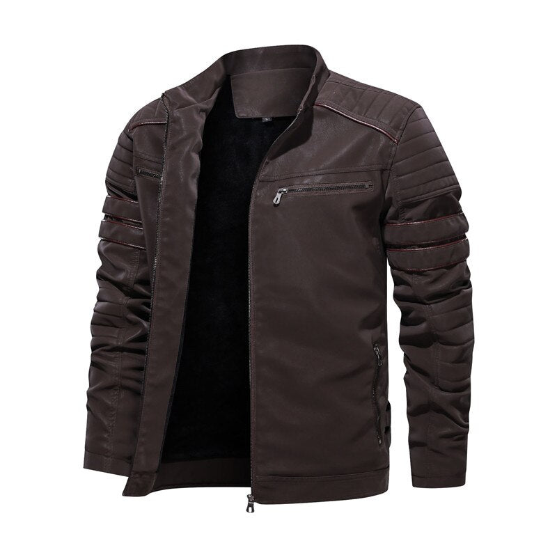 PU Leather Motorcycle Jacket