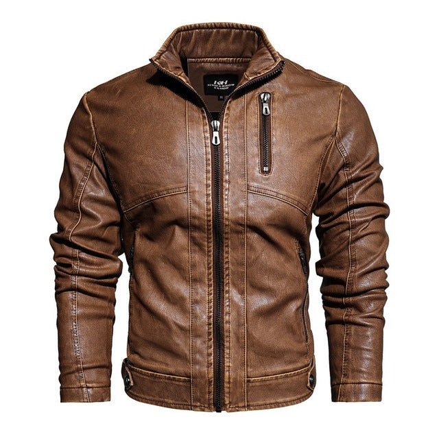 PU Leather Motorcycle Rider Jacket