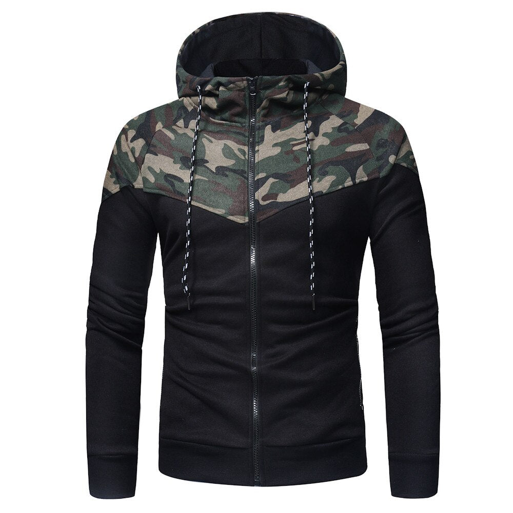 Camouflage Army Style Zipper Hoodie