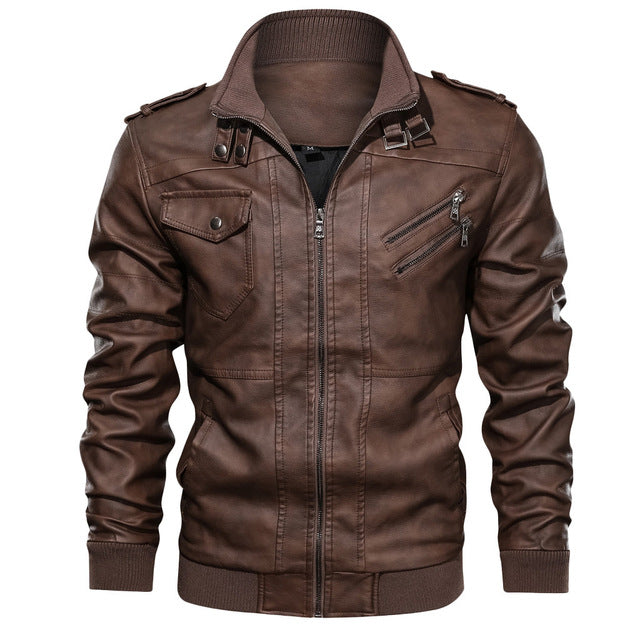 Leather Casual Jacket For Motorcycle Riders