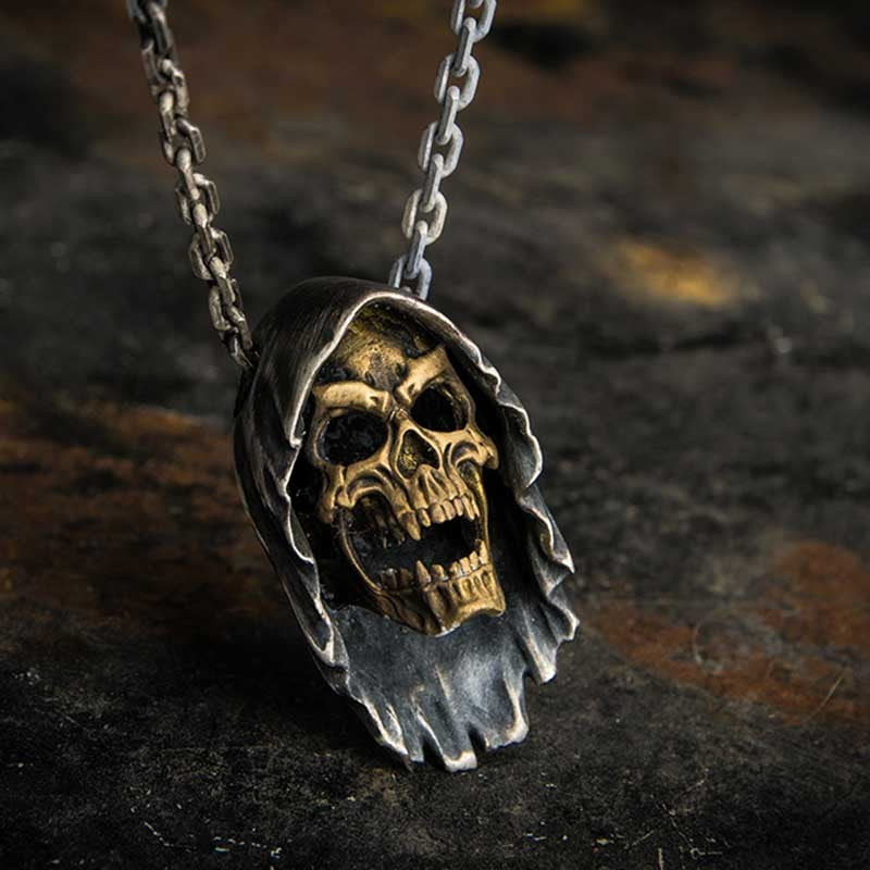 Hell Death Skull Punk Biker Necklace