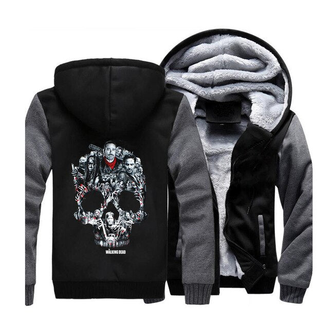 Sugar Skull Warm Fleece Hoodie