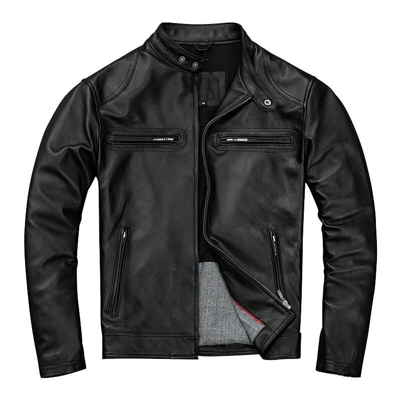 Black PU Motorcycle Leather Jacket