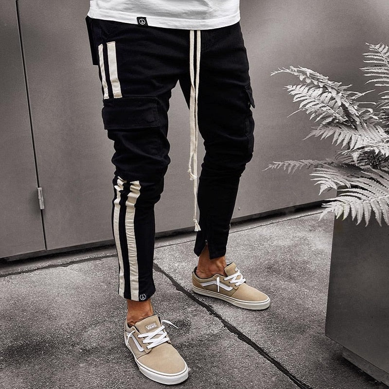 Black Multi Packet Cargo Jogger