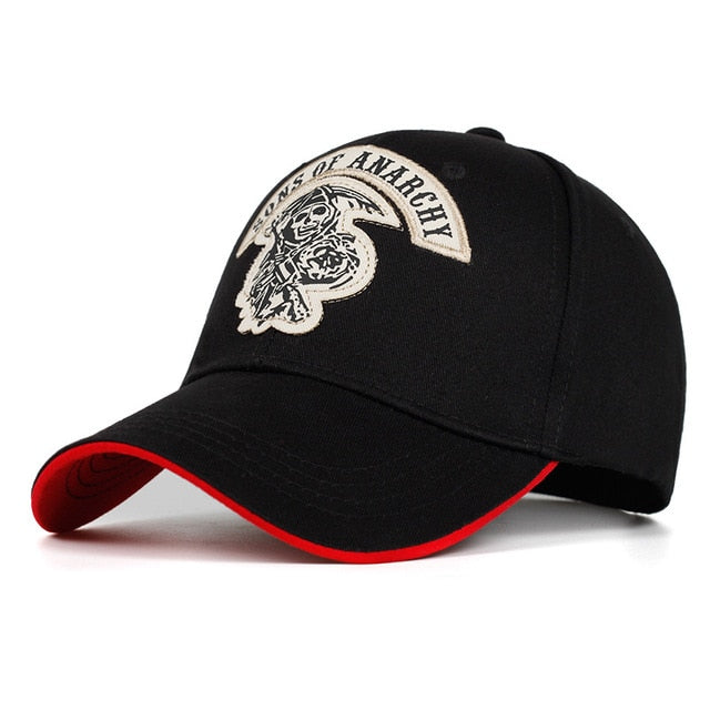 Sons of Anarchy Skull Embroidery Cap