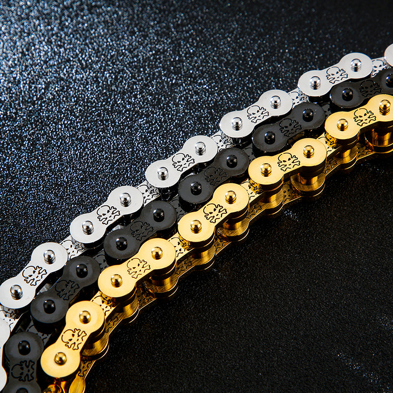 Steel Bike Chain Chunky Bracelet