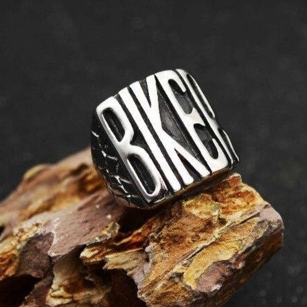 Creative Letter BIKER Steel Ring