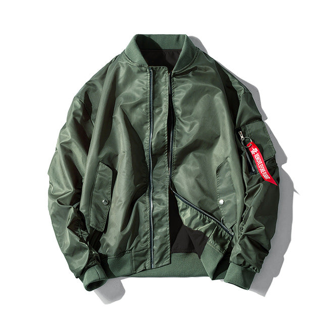 Military Style Fashion Bomber Jacket