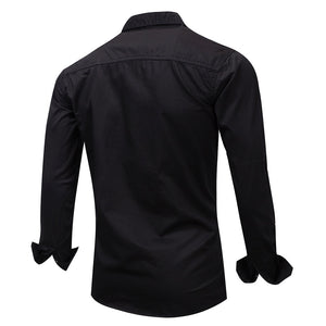 Casual Long Sleeve Slim Fit Cotton Shirts