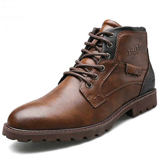 Genuine Leather Casual Lace-up Shoes