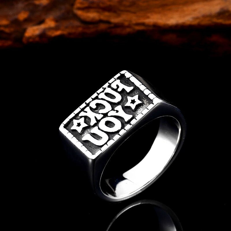 "3D Men's Favorite Word ""F"" Ring"