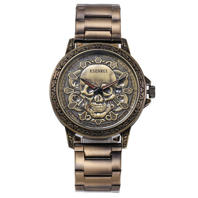 3D SKULL Luxury Retro Still Chain Watch