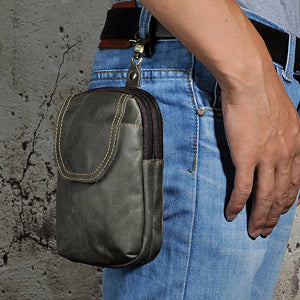 Genuine Leather Casual Design Small Waist Bag