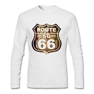 Full Sleeve Route 66 Woods Design T Shirt