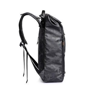 Black Waterproof Camouflage Backpack