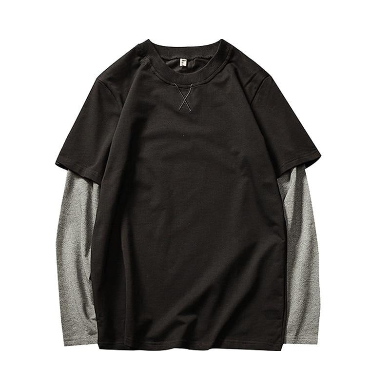 Full Sleeve Two Tone Cotton T Shirt
