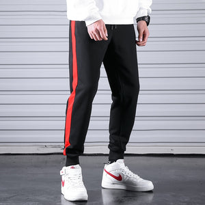 Casual Fitness Side Stripe Cotton Joggers
