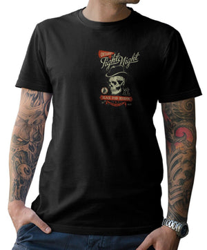Fight Night Skull Oldschool T Shirt
