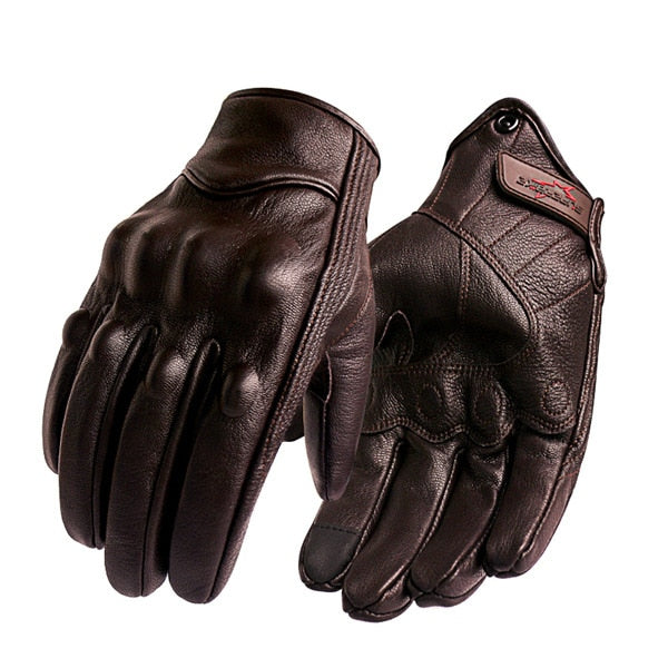 Leather Motorcycle Full Finger  Glove