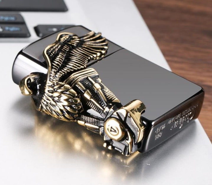 3D Eagle Carving Retro Metal Lighter