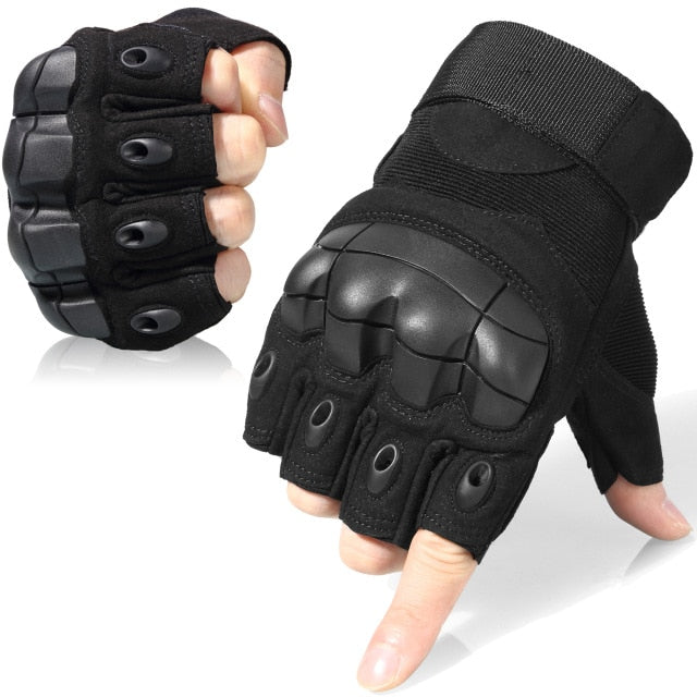 Touch Screen Tactical Military Army Finger-less  Gloves