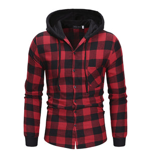 Long Sleeve Cotton Pullover Hooded Shirt