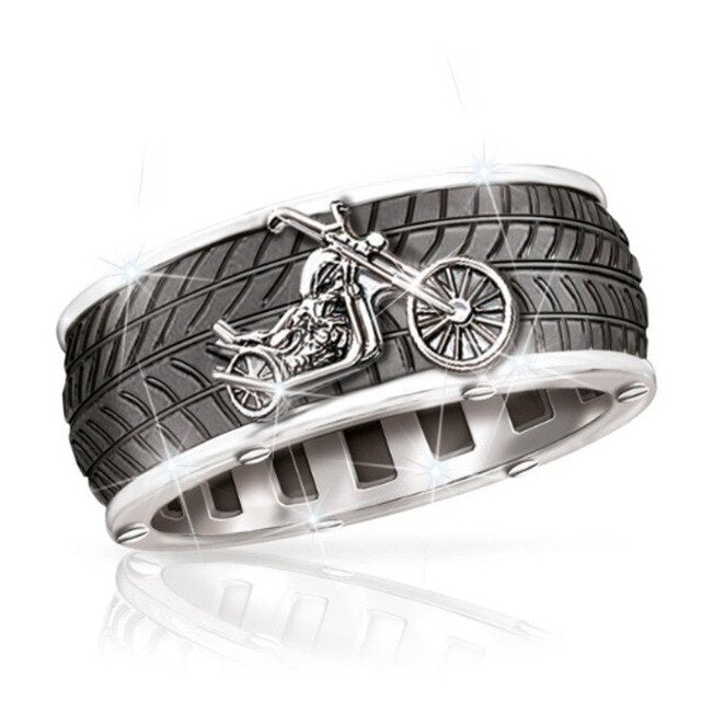 Cool Motorcycle Tire Biker Rings - Giveaway !