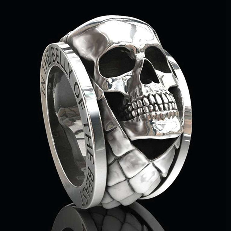 Skull Head Vintage Ring - Giveaway !