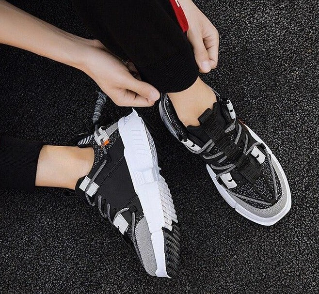 Thick Bottom Lace Up Outdoor Sports Shoes