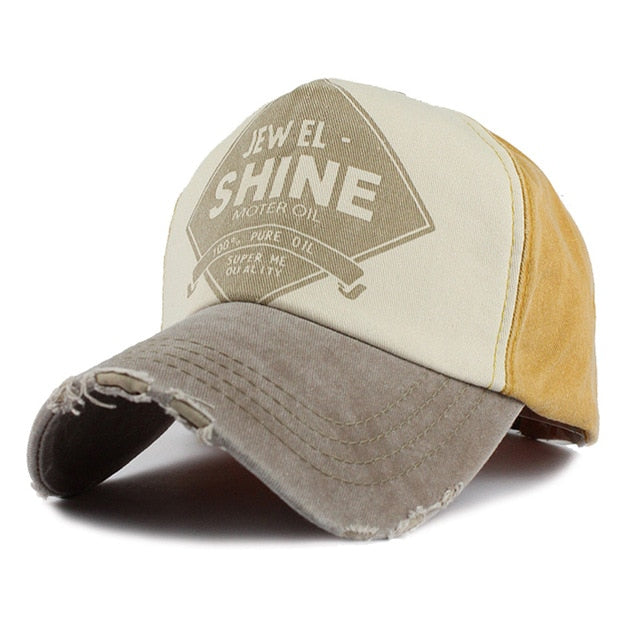 Washed Cotton Biker Cap