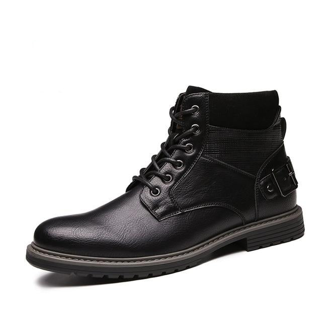 Comfy Leather Designer Lace-Up Boots