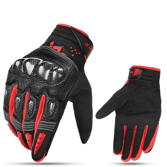Full Finger Touch Screen Racing Leather Motorcycle Gloves