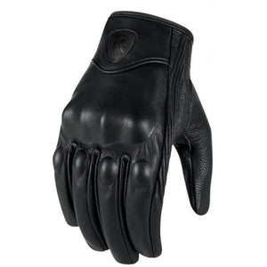 Leather Touch Screen Moto Gloves
