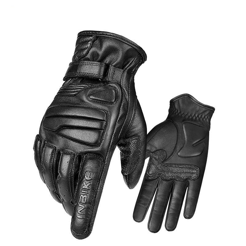 Genuine Leather Touch Screen Motorcycle Gloves
