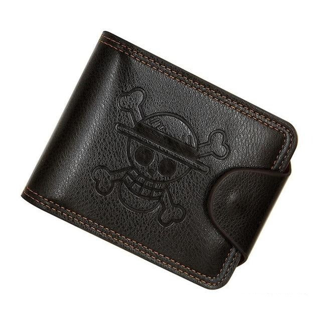 High Quality Leather Embossed Skull Design Wallet