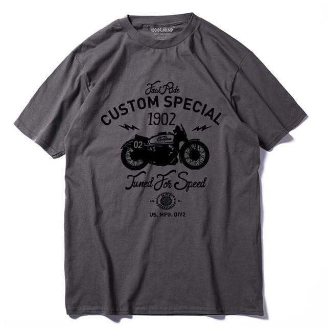 Custom Special Motorcycle Cotton T Shirt