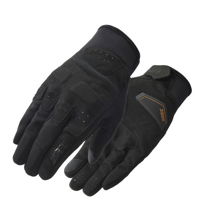 Reflective Leather Motocross Glove
