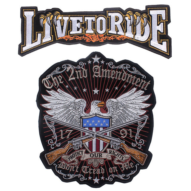 American Eagle Motorcycle Embroidered Patches For Clothing