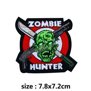 Zombie Huter Embroidered Patches For Clothing