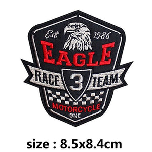 Eagle Race Team Embroidered Patches For Clothing