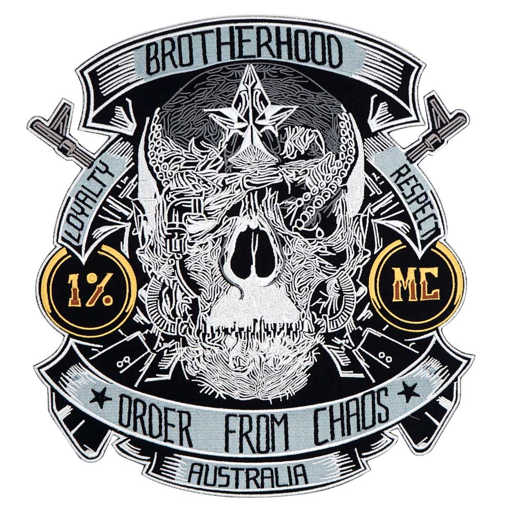 Brotherhood  Motorcycle Embroidered Biker Patch