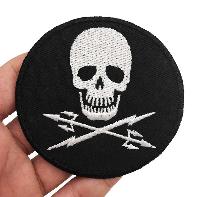 SKULL Embroidered Punk Biker Patch