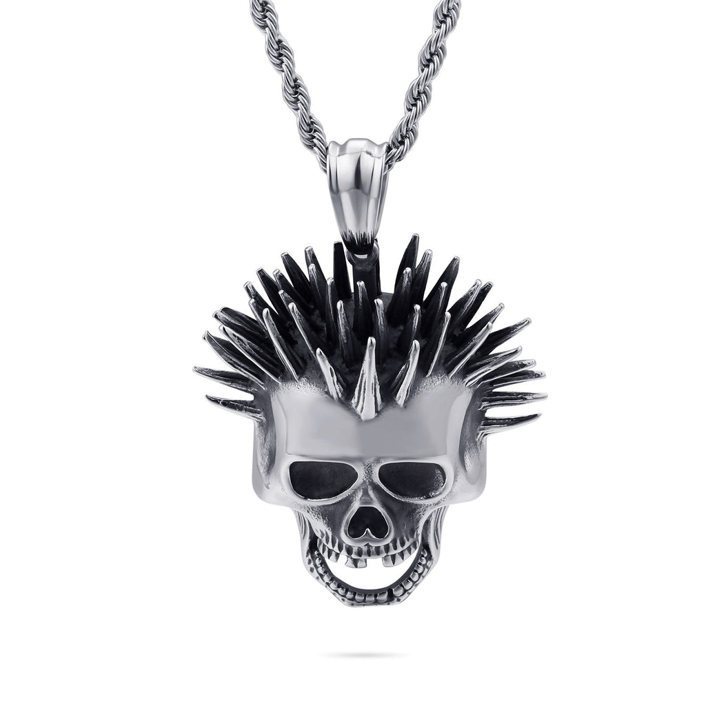 Viking Popsoket Skull Head Pendant Necklace