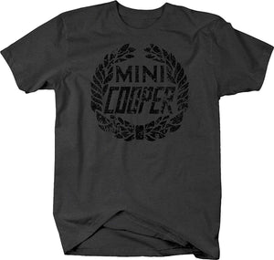 Vintage Mini Cooper Wreath Logo T Shirt