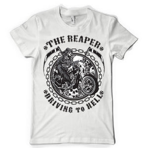 The Reaper Riding You to Hell Death Vintage T Shirt