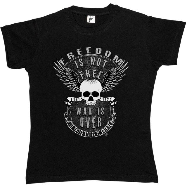 Freedom Is Not Free War Is Over Skull With Wings T-Shirt